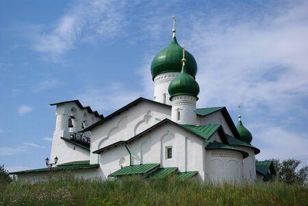 Old orthodox church in Pskov, Russia photo