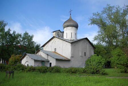 Old orthodox church in Pskov, Russia photo