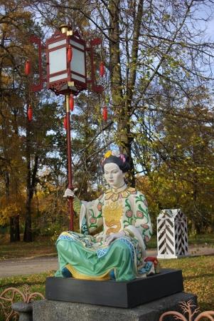 tsarskoye: Statue in Alexander s park in Tsarskoye Selo  Pushkin , Saint Petersburg, Russia