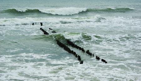 Baltische zee in bewolkte herfstdag