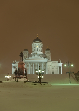 lutheran: Cathedral in the winter night, Helsinki, Finland
