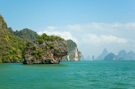 View on the tropical islands in Andaman sea near Phuket, Thailand