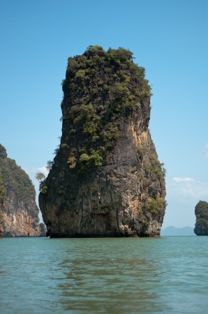 Limestone island in Andaman sea near Phuket, Thailand photo