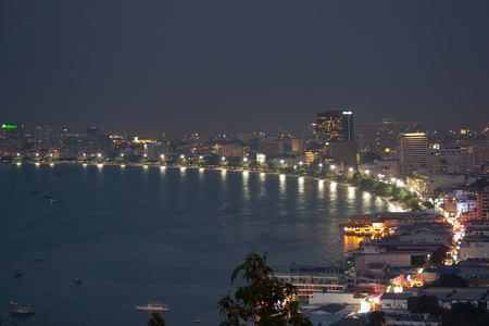 Pattaya City Bay, viewed from the southern side of the city, Thailand photo