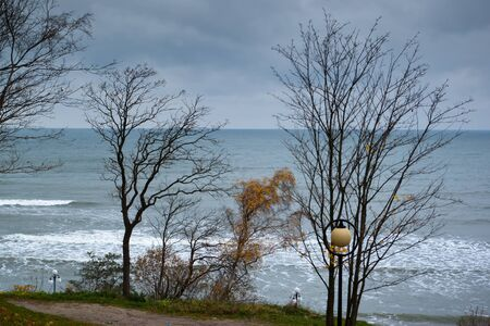 Baltic sea in cloudy autumn day  Kaliningrad region  Russia photo