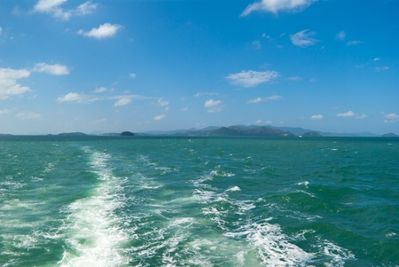 southeastern: View on the island Phuket from sea, Thailand