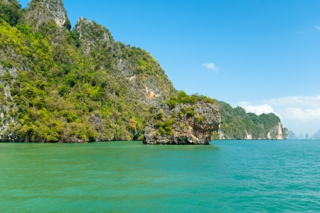 southeastern: View on the tropical islands in Andaman sea near Phuket, Thailand