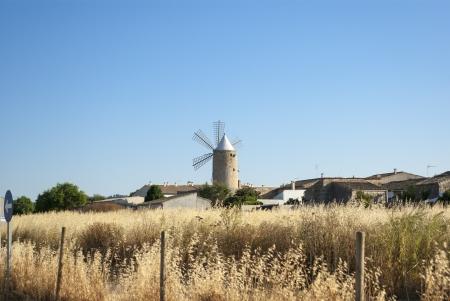 Old stony windmill on Mallorca, Spain