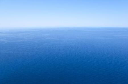 sea horizon: Horizon of tranquil sea and cloudless sky