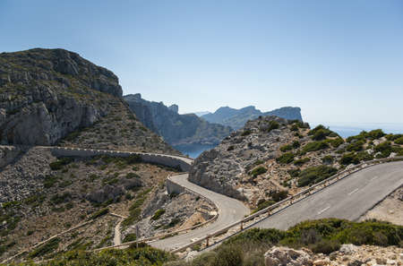 Mountain road to Cap de Formentor, Mallorca, Spain photo