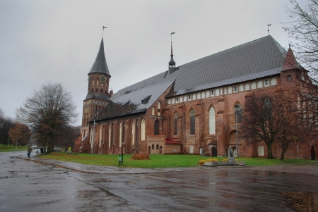 immanuel: Cathedral of Immanuel Kant in gloomy autumn day. Kaliningrad. Russia