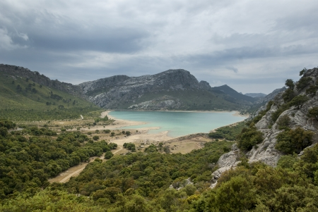 Lake in Serra de Tramuntana - mountains on Mallorca, Spain photo