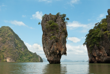 James Bond island in province Phang Nga, Thailand photo