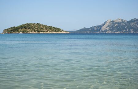 majorca: The coast of Mediterranean sea, Mallorca, Spain Stock Photo