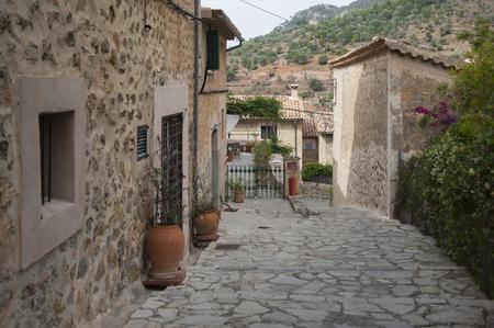 Street of mountain village Deia, Mallorca, Spain photo