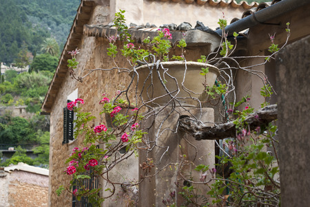 Old house at mountain village Deia, Mallorca, Spain