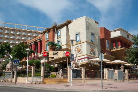 overturn: Overturn house at resort Magaluf, Mallorca, Spain