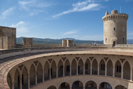 View on Bellver castle, Palma of Mallorca, Spain 新闻类图片