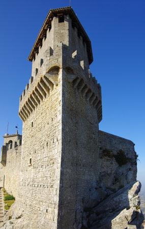 apennines: Tower of Guaita castle in Republic San Marino Editorial