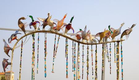 Glass ducks on Murano island, Venice, Italy 免版税图像 - 26901235