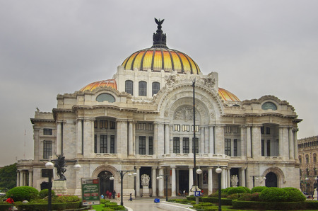 Bellas Artes Palace in the historical part of Mexico City
