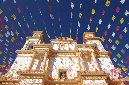 Church in San Cristobal de las Casas, Chiapas, Mexico 免版税图像 - 27842443