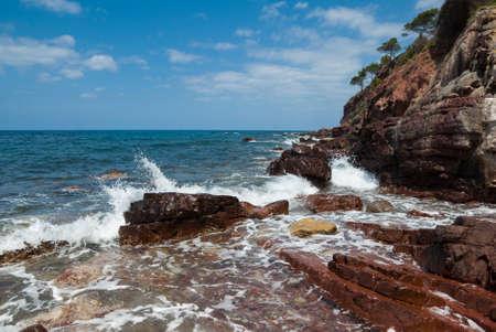 majorca: The coast of Mediterranean sea, Mallorca, Spain Stock Photo