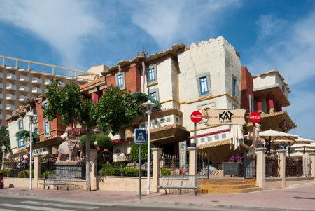 overturn: Capovolgere casa al villaggio Magaluf, Maiorca, Spagna Editoriali