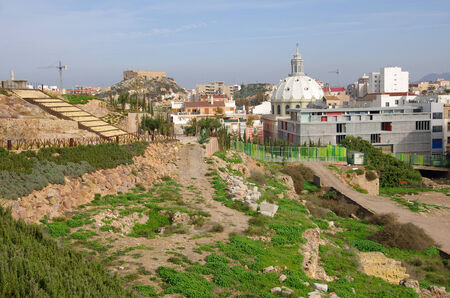 southeastern: Ruins of ancient Cartagena, Spanish city and a major naval station located in the Region of Murcia, by the Mediterranean coast, south-eastern Spain