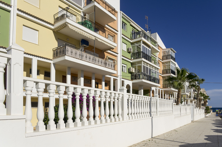 spanish houses: Colourful spanish houses at Torrevieja, Costa Blanca, Spain