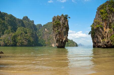 southeastern: James Bond island in province Phang Nga, Thailand