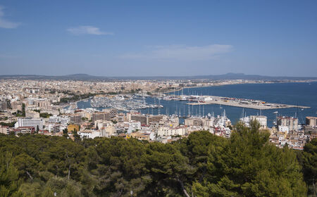 Panoramic view on Palma de Mallorca, Spain photo