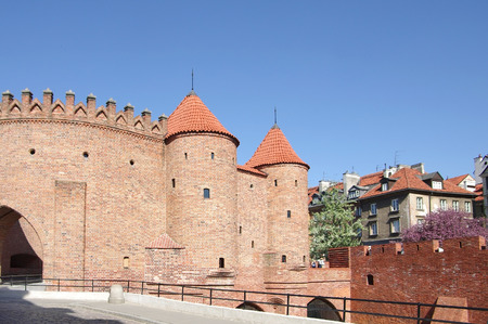 outpost: The Barbican is a semicircular fortified outpost in Warsaw, Poland, and a relic of the historic fortifications that once encircled Warsaw