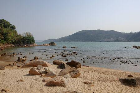 lantau: Una delle spiagge sull'isola di Lantau a Hong Kong