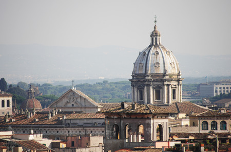 Top view on Rome from Saint Angel castle