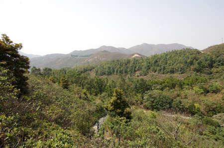 lantau: Vista sulle montagne dell'isola di Lantau a Hong Kong