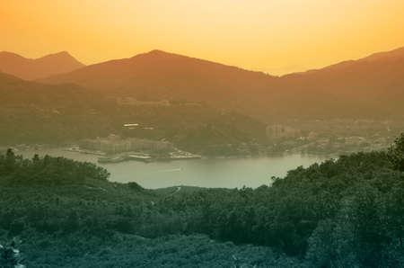 lantau: View on mountains of Lantau island in Hong Kong