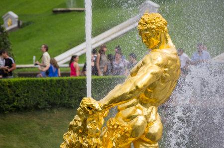 Samson fountain of the Grand Cascade, Peterhof, Saint-Petersburg, Russia