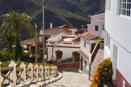 The mountain village of Tejeda in the centre of Gran Canaria, Canary islands, Spain photo