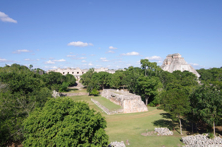 archeological: Top view on archeological zone Uxmal, Mexico