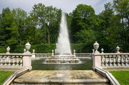 peterhof: Fountain Pyramid in the Lower Park, Peterhof, Russia
