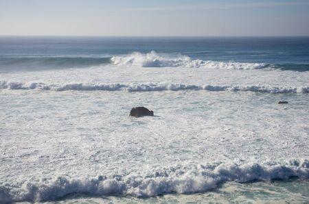 golfo: The coast of Atlantic ocean on Lanzarote, Canary islands, Spain