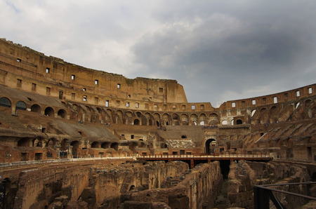 tourist attractions: Colosseum is one of Romes most popular tourist attractions, Italy