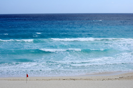 cancun: The coast of Caribbean sea, Cancun, Mexico