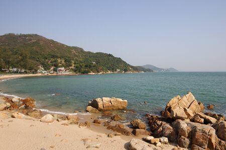 lantau: One of the beaches on Lantau island in Hong Kong