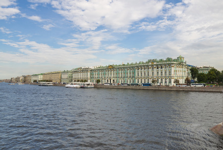 neva: View on the Winter Palace from Neva River, Saint-Petersburg, Russia