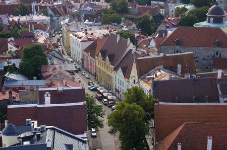 tallin: Top view on buildings of Old Town, TALLINN, ESTONIA