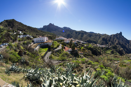 canarian: The mountain village of Tejeda in the centre of Gran Canaria, Canary islands, Spain Stock Photo
