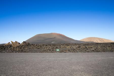 caldera: National Park Timanfaya on the island of Lanzarote, Canary Islands, Spain Stock Photo
