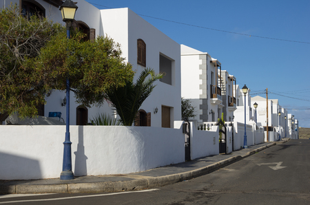 lanzarote: White houses of the island of Lanzarote, Canary Islands, Spain